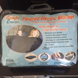 Comfy Cruise heated electric blanket for vehicles